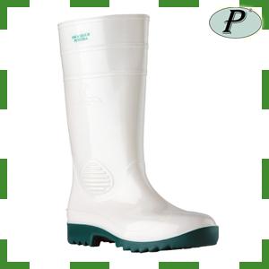 Botas de agua con puntera blanca-verde FOCA
