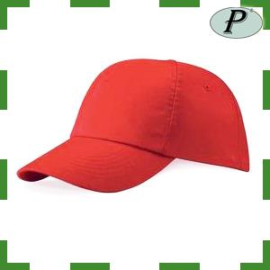 Gorra roja de algodón gran visibilidad