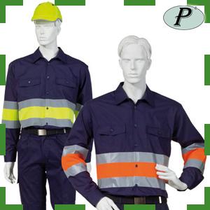 Camisa bicolor y 2 bandas reflectantes