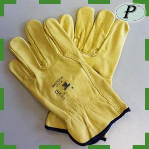 Guantes 3L industrial piel flor amarilla Master YC  GP-015C