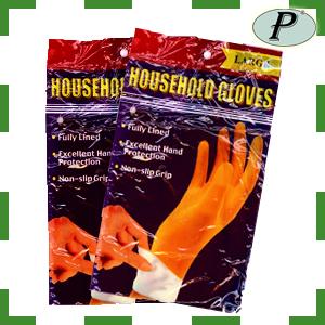 Menaje hogar guantes látex flocados