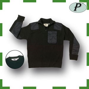 Jersey reforzado con cuello cremallera corta