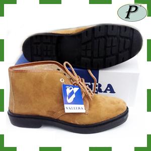 Botas de trabajo serraje marrón