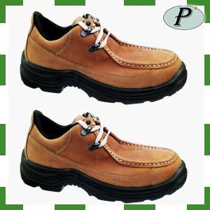 Zapatos de piel marrón de seguridad