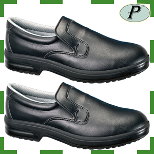 Zapatos tipo mocasín de seguridad sin cordones