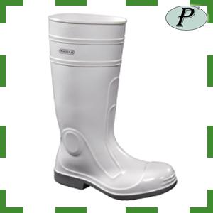 Bota blanca impermeable de protección