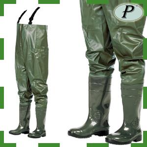 Vadeador de seguridad PVC verde