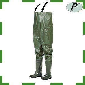 Vadeadores de PVC verde para pescador