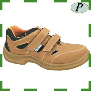 Sandalias de seguridad beige sin metal