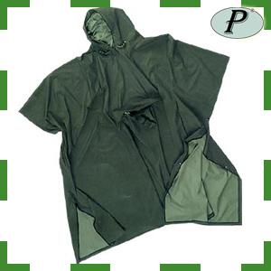 Ponchos verdes de PVC con soporte nylon