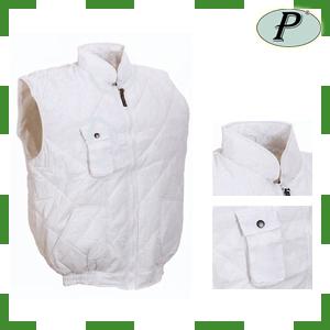 Chalecos algodón-poliéster color blanco