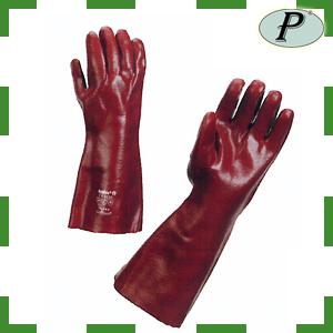 Guantes PVC largos 40 cm rojos