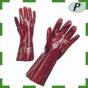 Guantes PVC rojos de 36 cm