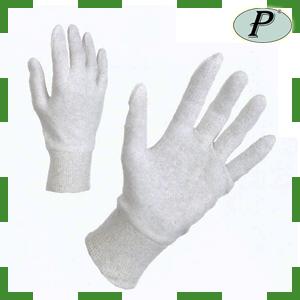 Guantes hilo algodón con puño elástico