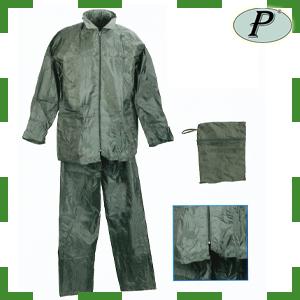 Trajes de agua nylon PVC verde en bolsa