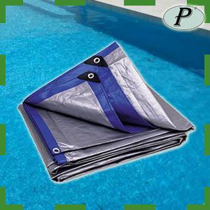 Lonas de rafia verdes azules blancas planas for Lonas para tapar piscinas