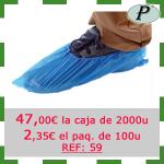 8 - Cubrezapatos desechables resistentes polietileno