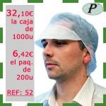 1 - Precios outlet gorras desechables con visera