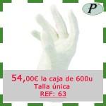 Guantes algodon blancos precio outlet