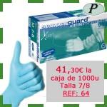 Guantes desechables de nitrilo precio outlet