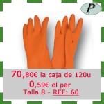 Guantes industriales naranjas precio outlet