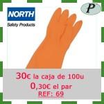 Guantes naranjas North industriales precios outlet