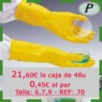 Guantes químicos de látex amarillo satinado precio outlet de Polyco