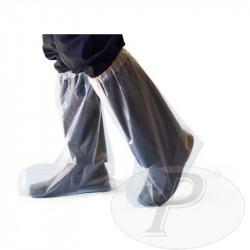 Cubrebotas desechables de PVC transparentes