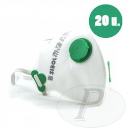 Mascarillas respiratorias plegables FFP3 con válvula