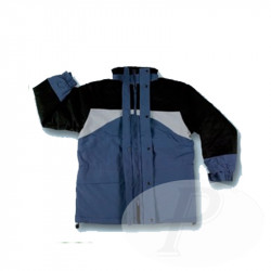 Chaquetas azules y negras impermeables
