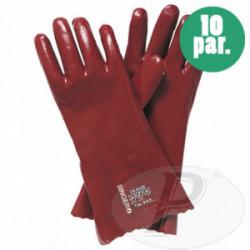 Guantes rojos de PVC con soporte 36 cm