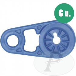 Clip de sujeción para lonas (6 unidades)