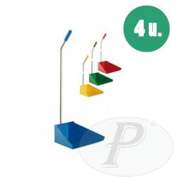 Recogedores de basura de colores metálicos