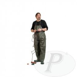 Pantalones con peto impermeables verdes