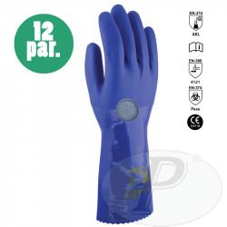Guantes 3L PVC azules sobre algodon