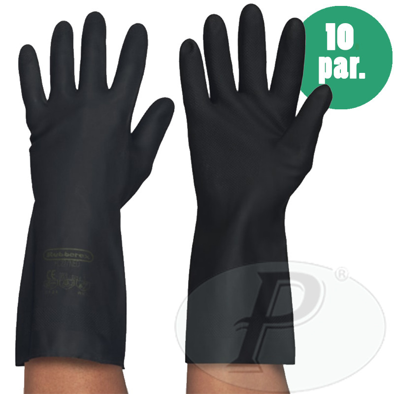 Guantes industriales negros latex neopreno - Suministros Planas ... f0b76d460a9