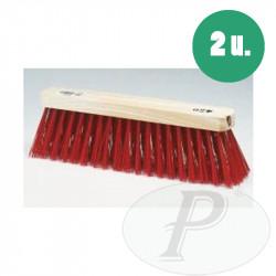 Cepillos barrendero fibra roja 430
