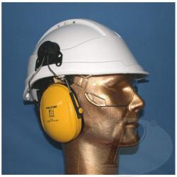 Cascos de protección con accesorios opcionales