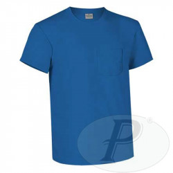 Camisetas lisas de algodón con bolsillo