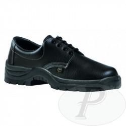 Zapatos de piel flor negra laboral Fal 120