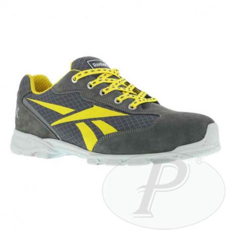 Zapatilla Reebok de seguridad gris y amarillo