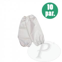 Manguitos de seguridad blancos poliéster PVC 40cm