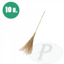 Escobas de bambu para limpieza