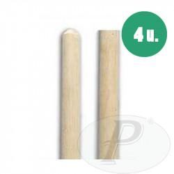 Palos de madera 120cm sin rosca