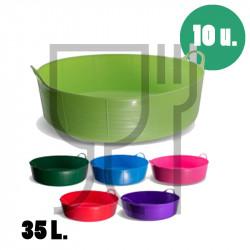 Cubo plano para uso alimentario de 35 litros