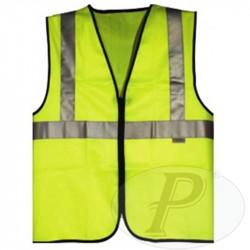 Chaleco amarillo con 3 bandas reflectantes