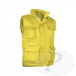Chalecos afelpados amarillos acolchados
