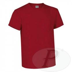 Camisetas algodón de manga corta con bolsillo