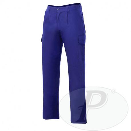 Pantalones de trabajo azules con goma trasera