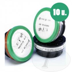 Prefiltros para polvo acoplables a filtros respiratororios